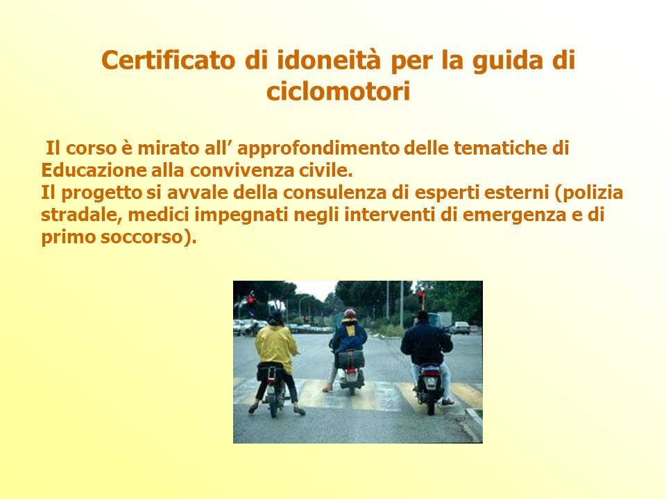 Certificato di idoneità per la guida di ciclomotori
