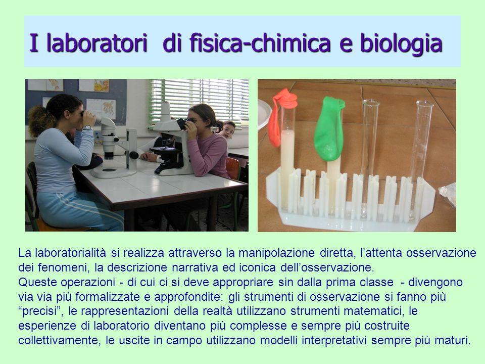 I laboratori di fisica-chimica e biologia