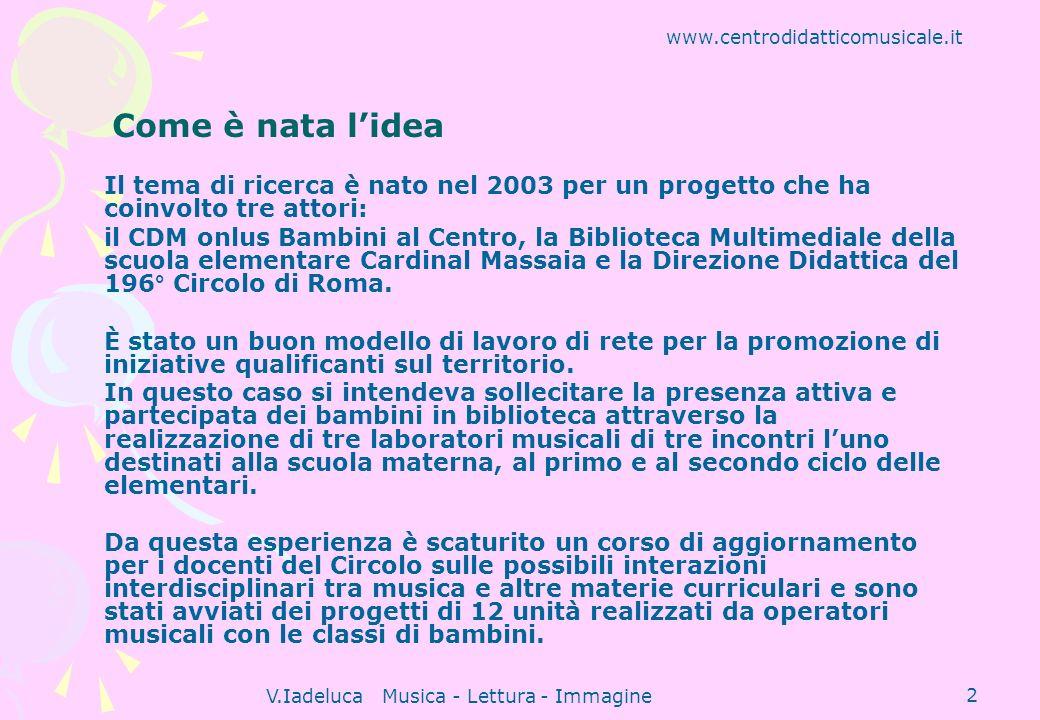 V.Iadeluca Musica - Lettura - Immagine