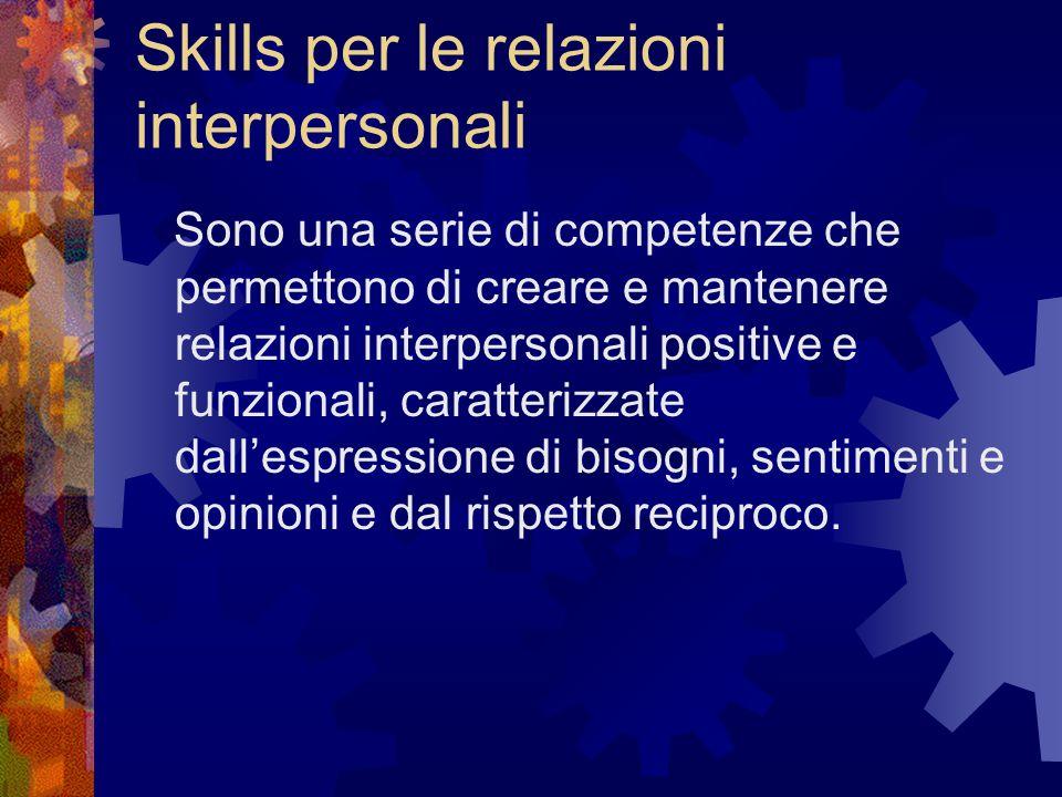 Skills per le relazioni interpersonali