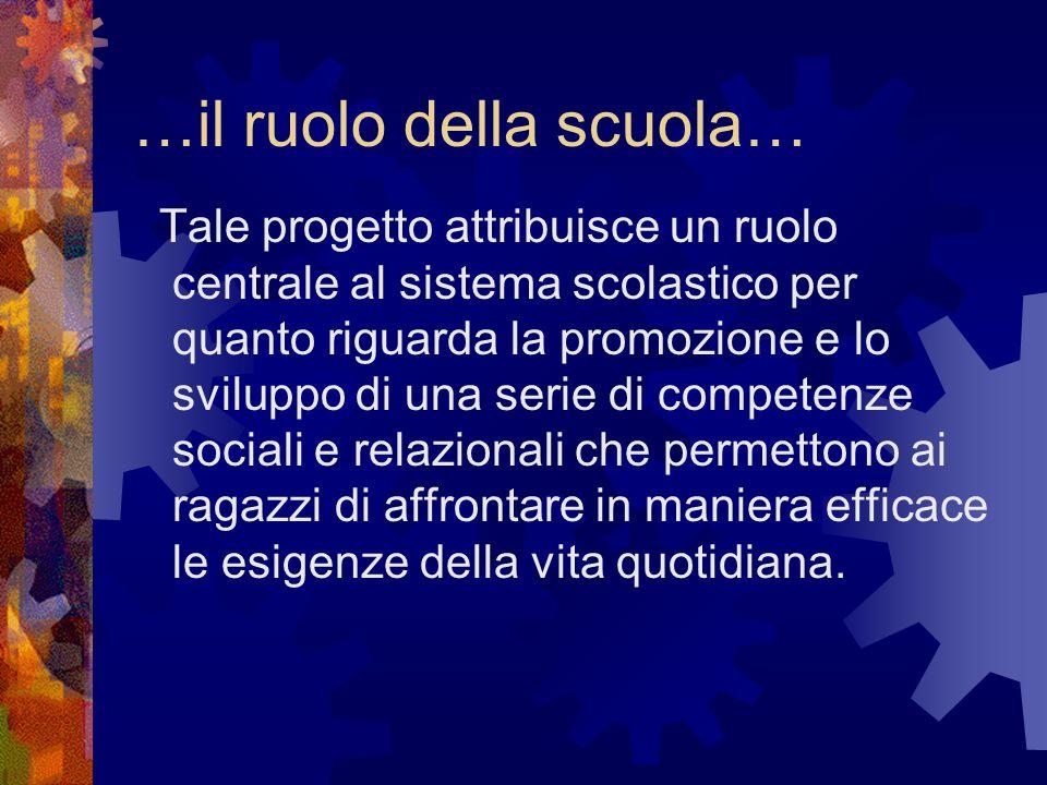 …il ruolo della scuola…