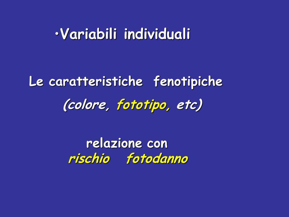 Variabili individuali