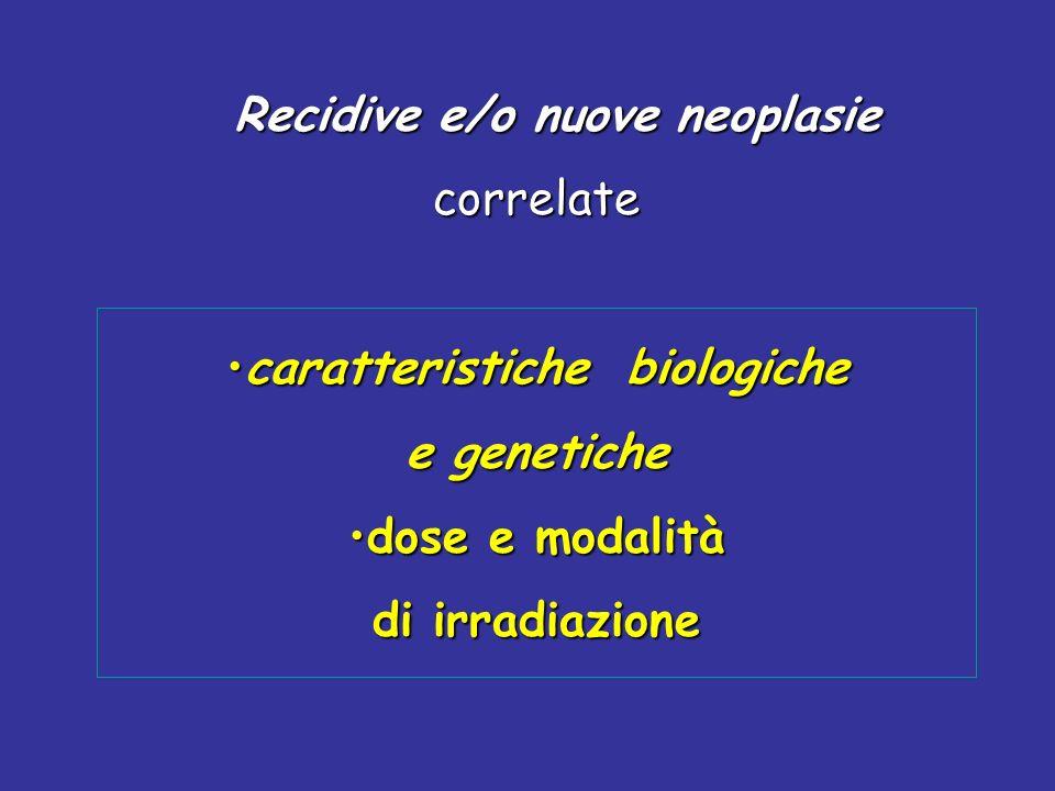 Recidive e/o nuove neoplasie caratteristiche biologiche