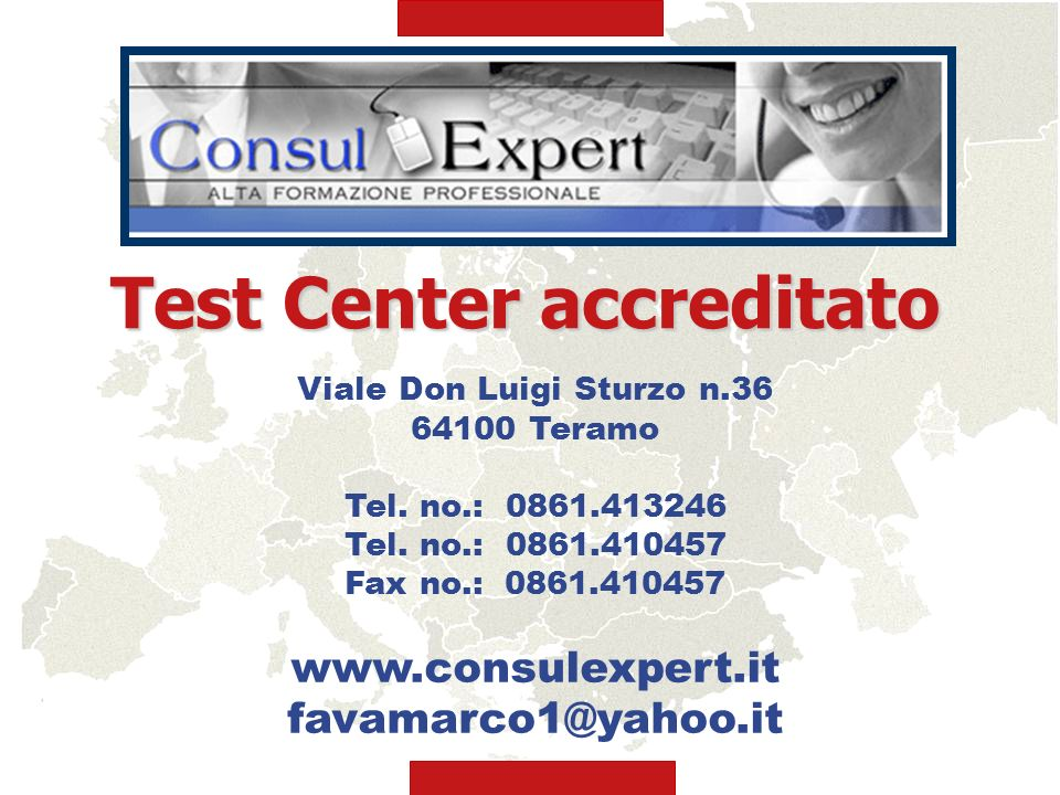 Test Center accreditato Viale Don Luigi Sturzo n.36