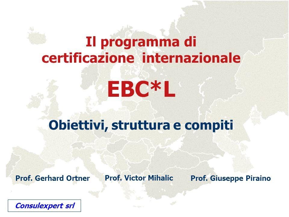 EBC*L Il programma di certificazione internazionale