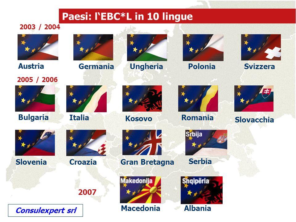 Paesi: l'EBC*L in 10 lingue