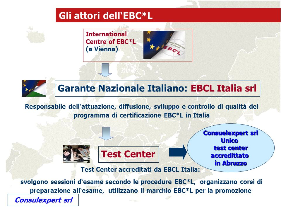 Test Center accreditati da EBCL Italia: