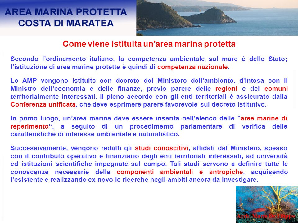 Come viene istituita un area marina protetta