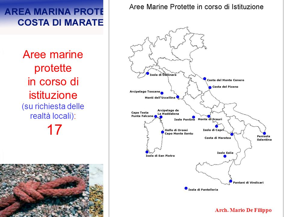 Aree marine protette in corso di istituzione
