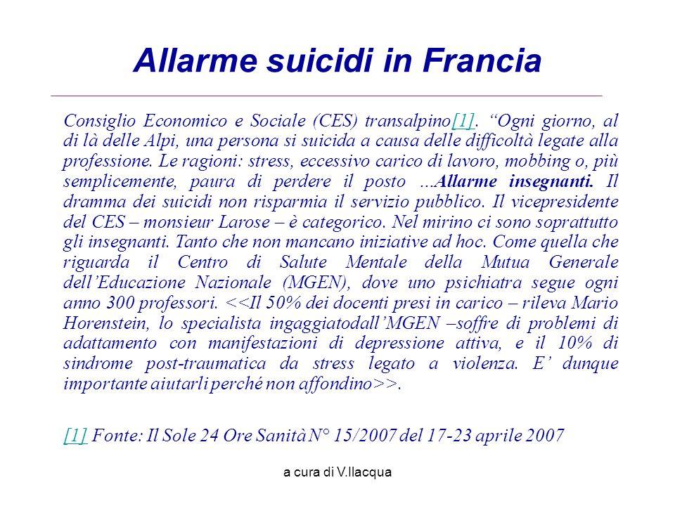 Allarme suicidi in Francia