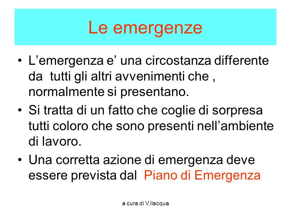 Le emergenze L'emergenza e' una circostanza differente da tutti gli altri avvenimenti che , normalmente si presentano.