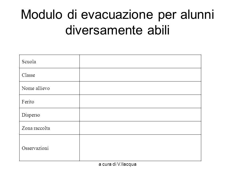 Modulo di evacuazione per alunni diversamente abili
