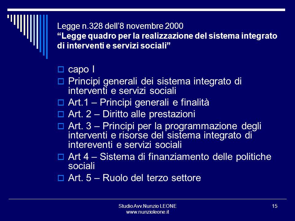 Studio Avv.Nunzio LEONE www.nunzioleone.it