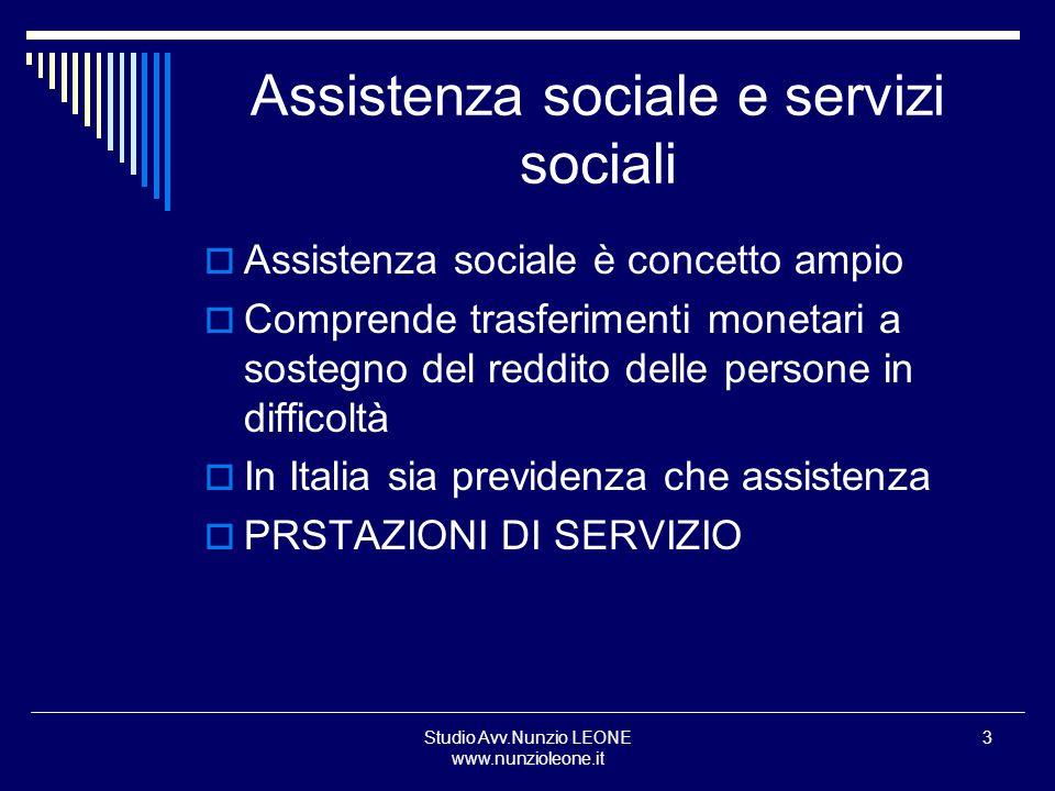 Assistenza sociale e servizi sociali