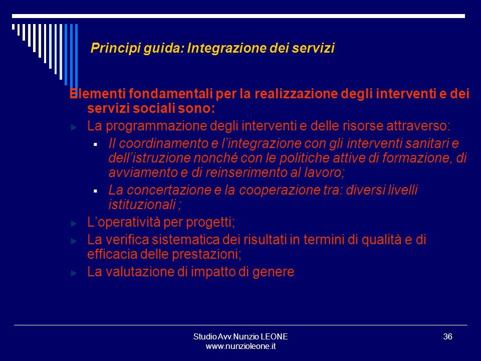 Principi guida: Integrazione dei servizi