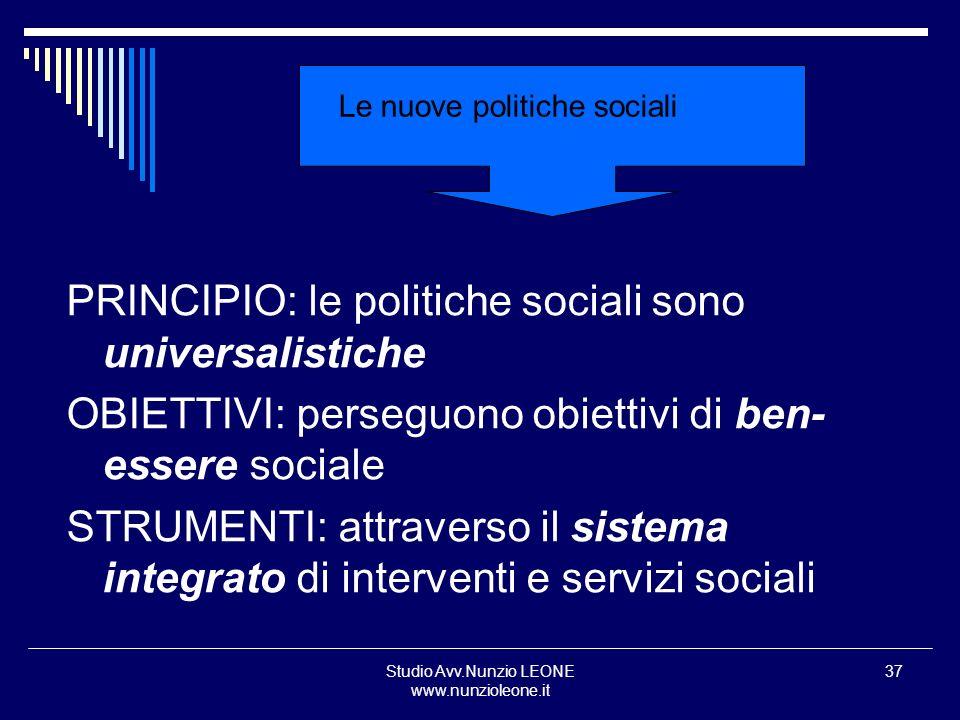 Le nuove politiche sociali