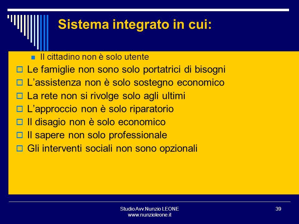 Sistema integrato in cui: