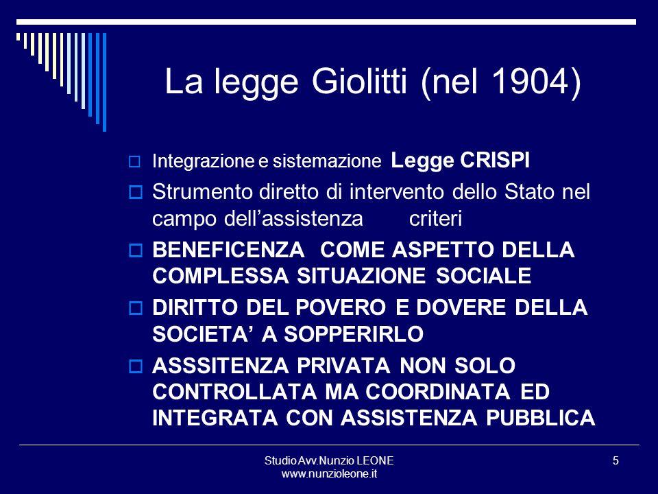 La legge Giolitti (nel 1904)