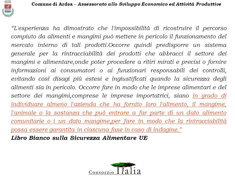 Libro Bianco sulla Sicurezza Alimentare UE