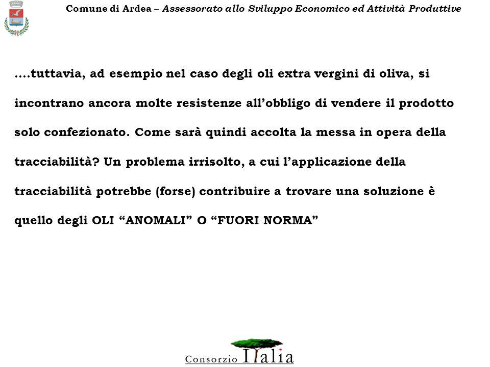 Comune di Ardea – Assessorato allo Sviluppo Economico ed Attività Produttive