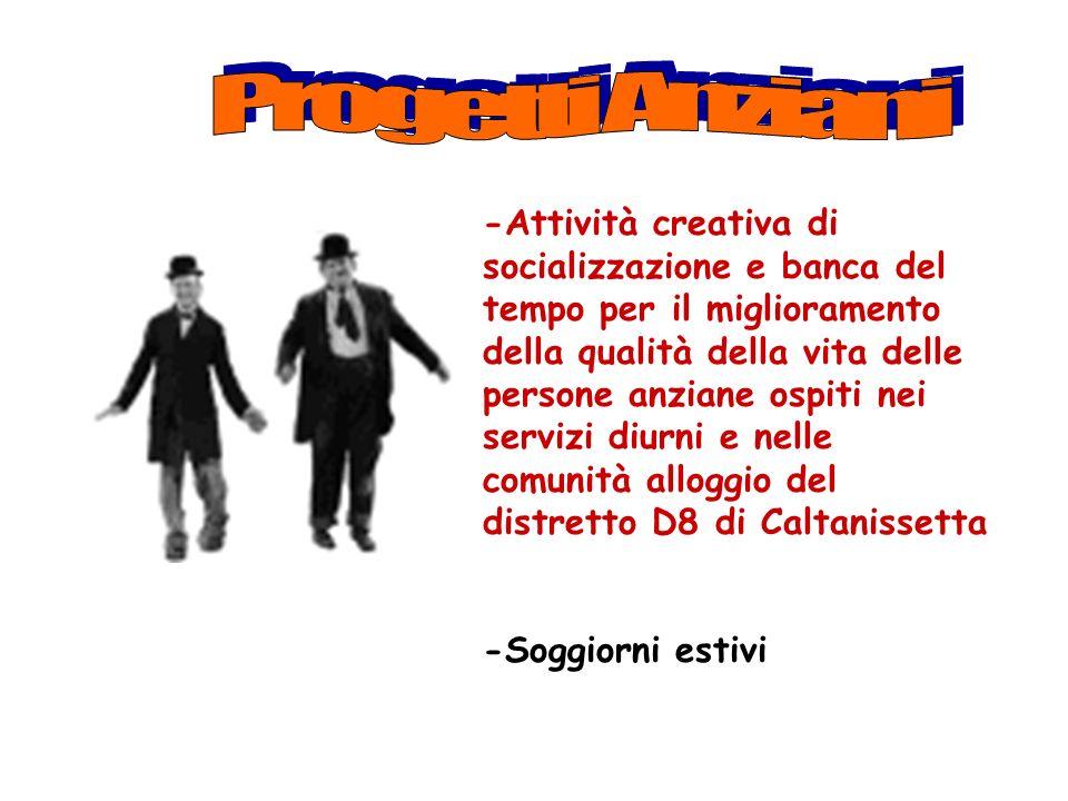 Progetti Anziani Progetto Anziani.