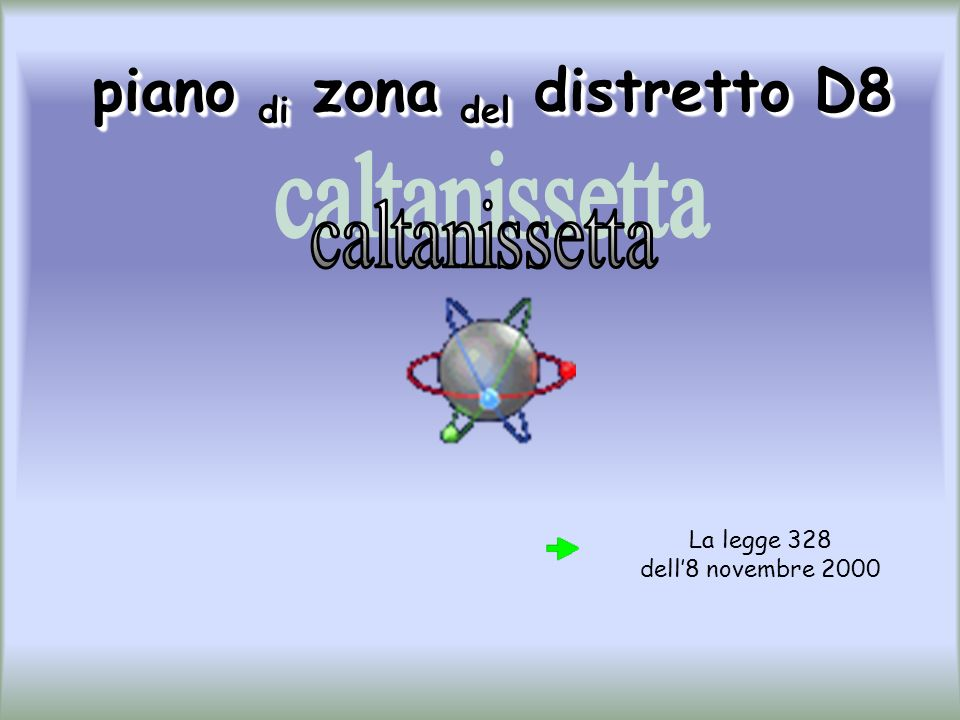 piano di zona del distretto D8