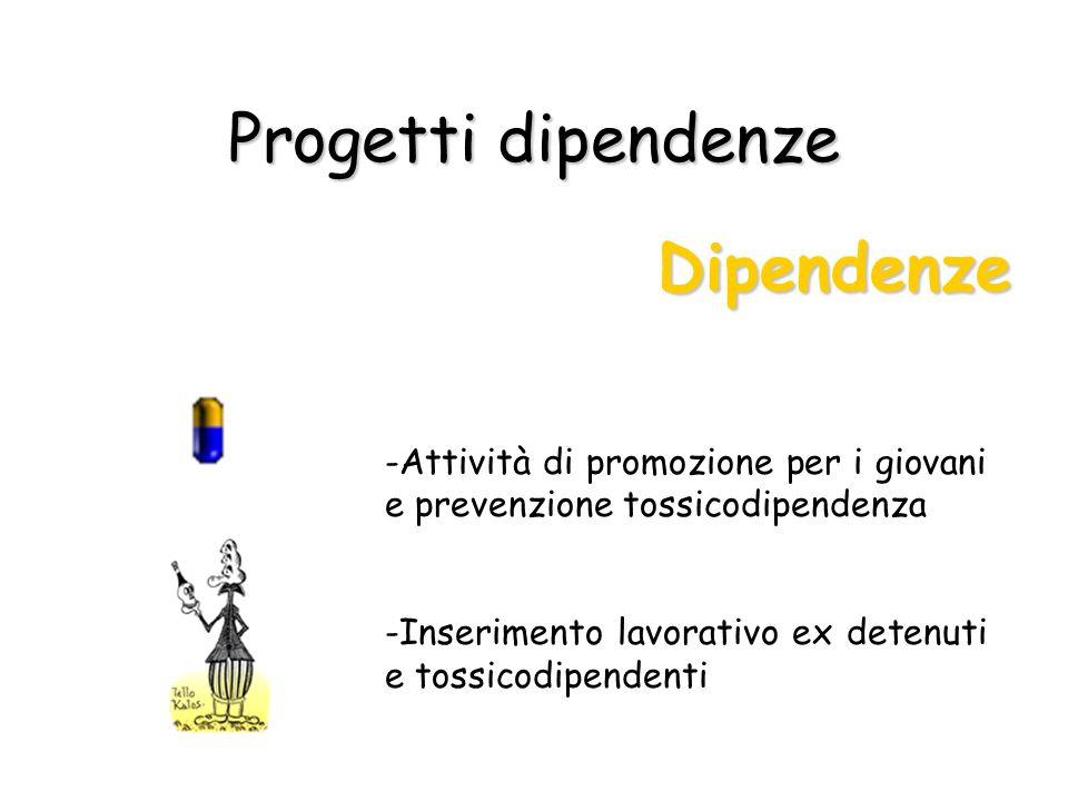 Progetti dipendenze Dipendenze