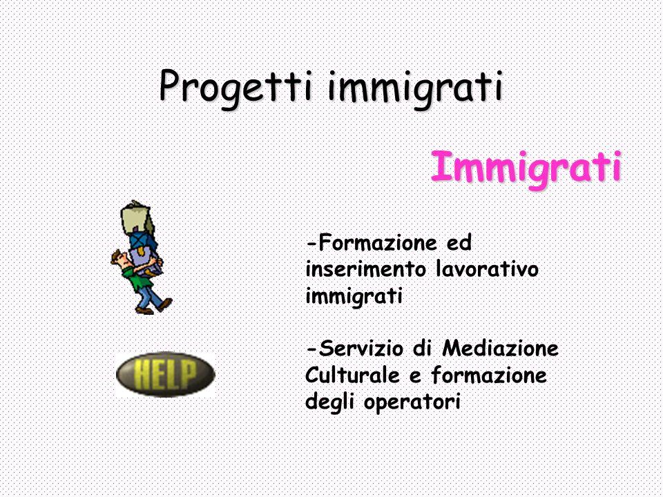 Progetti immigrati Immigrati