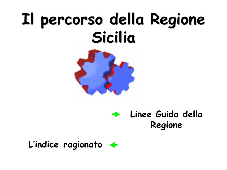 Il percorso della Regione Sicilia
