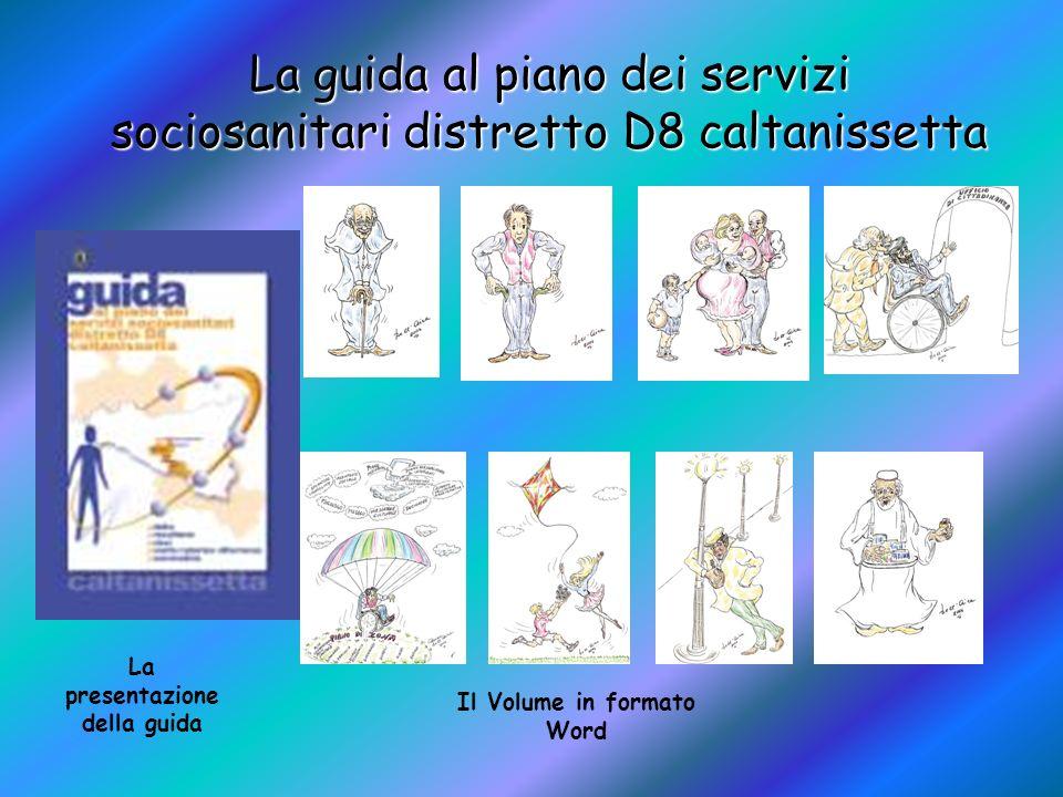 La guida al piano dei servizi sociosanitari distretto D8 caltanissetta