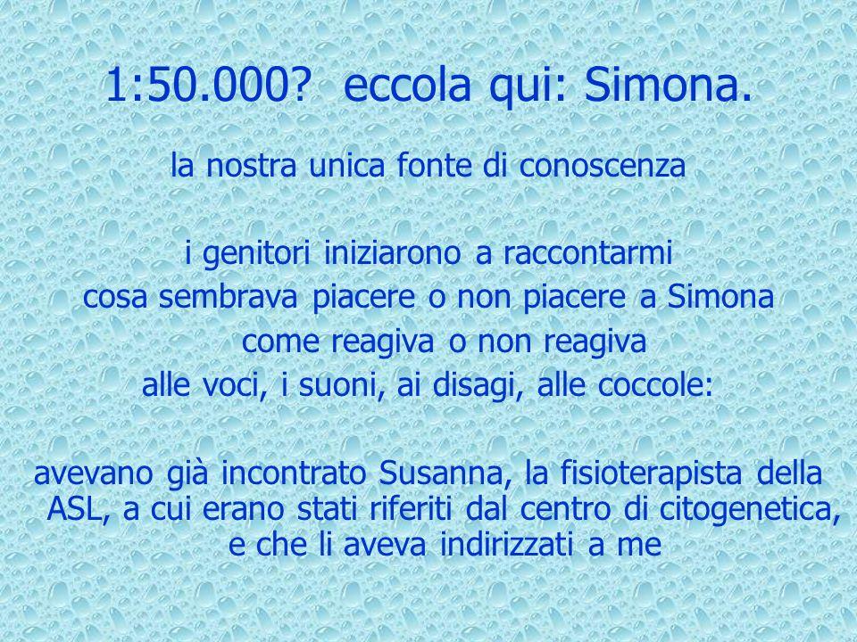 1:50.000 eccola qui: Simona. la nostra unica fonte di conoscenza
