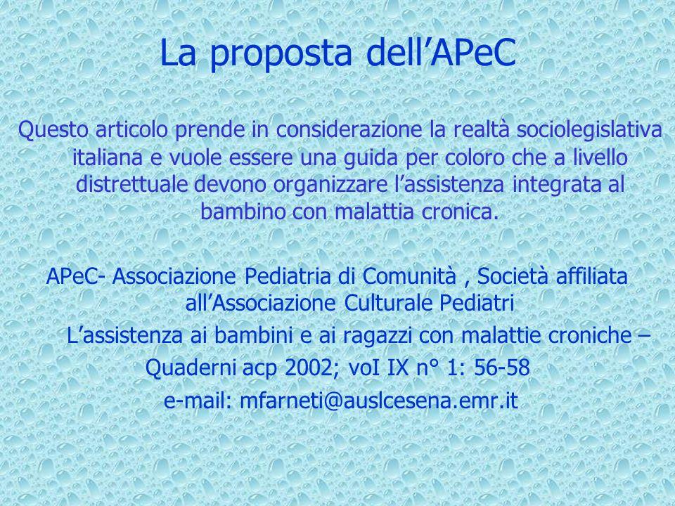 La proposta dell'APeC