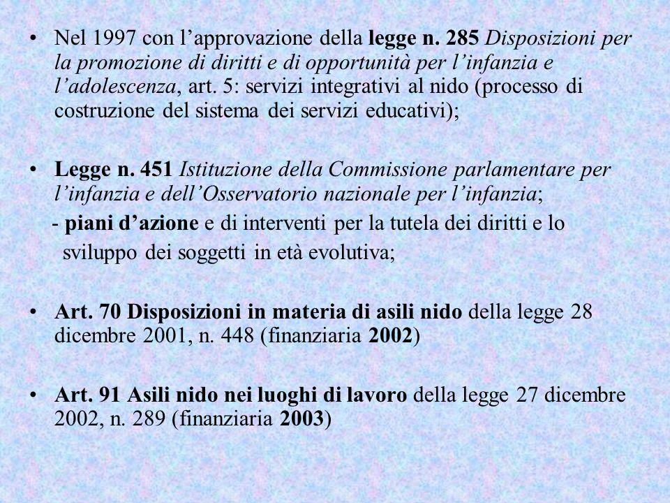 Nel 1997 con l'approvazione della legge n