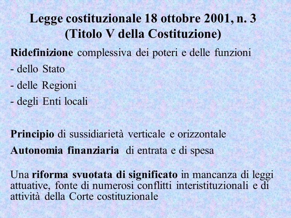 Legge costituzionale 18 ottobre 2001, n