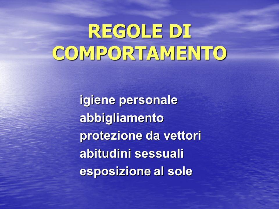 REGOLE DI COMPORTAMENTO