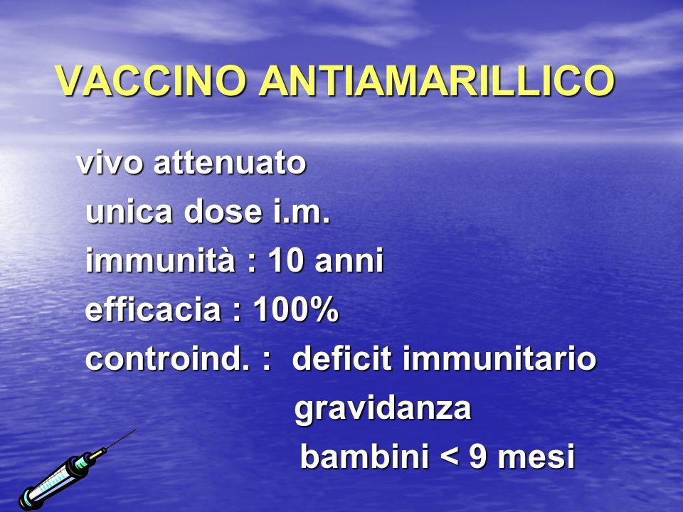 VACCINO ANTIAMARILLICO