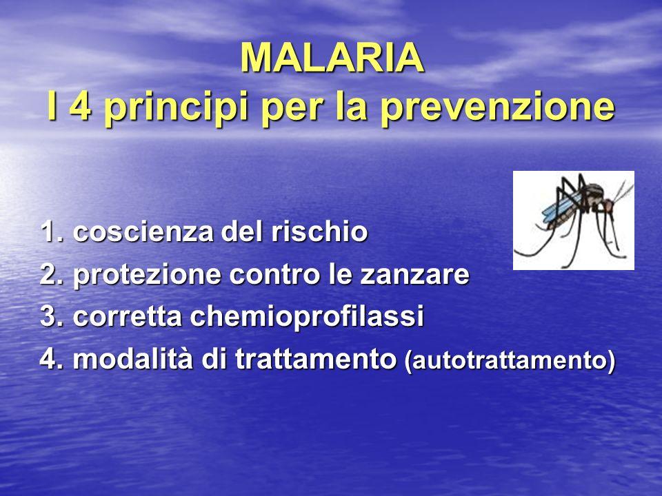 MALARIA I 4 principi per la prevenzione