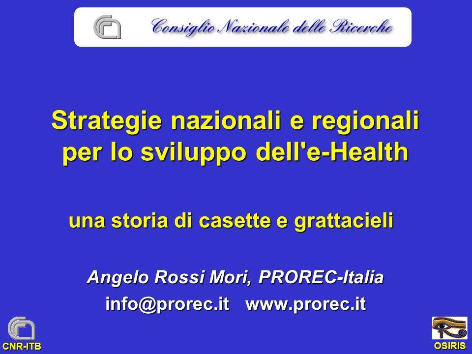 Strategie nazionali e regionali per lo sviluppo dell e-Health