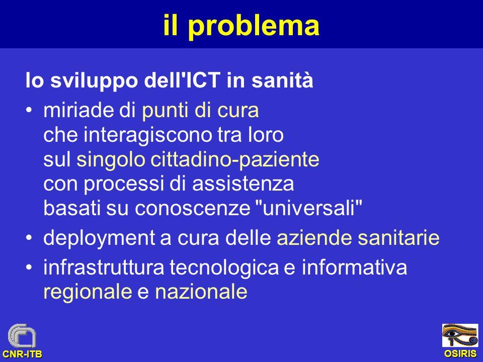 il problema lo sviluppo dell ICT in sanità