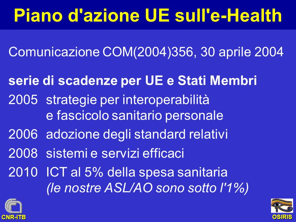 Piano d azione UE sull e-Health