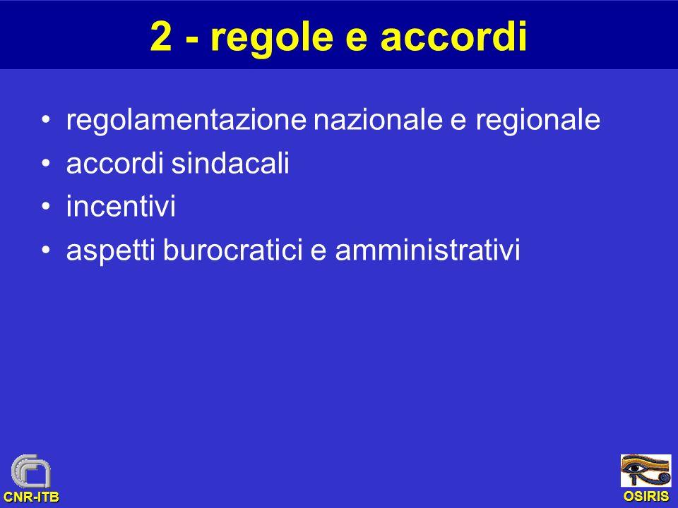 2 - regole e accordi regolamentazione nazionale e regionale