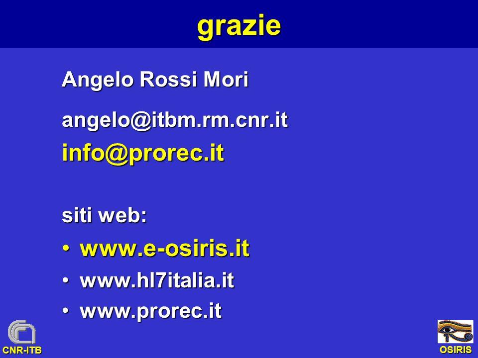 grazie info@prorec.it www.e-osiris.it Angelo Rossi Mori