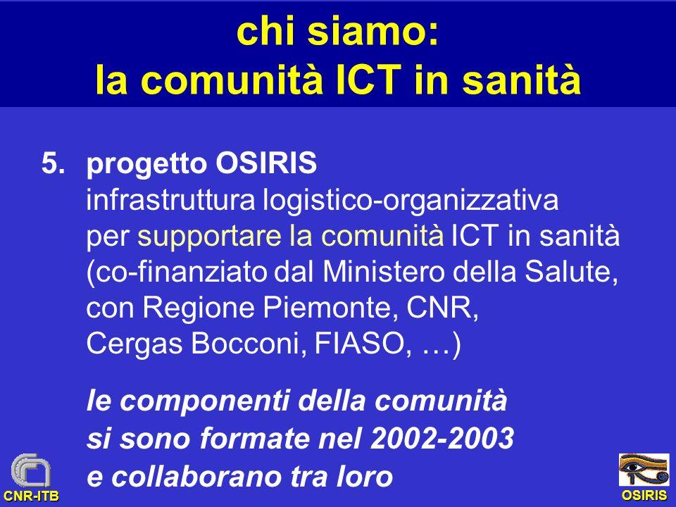 chi siamo: la comunità ICT in sanità
