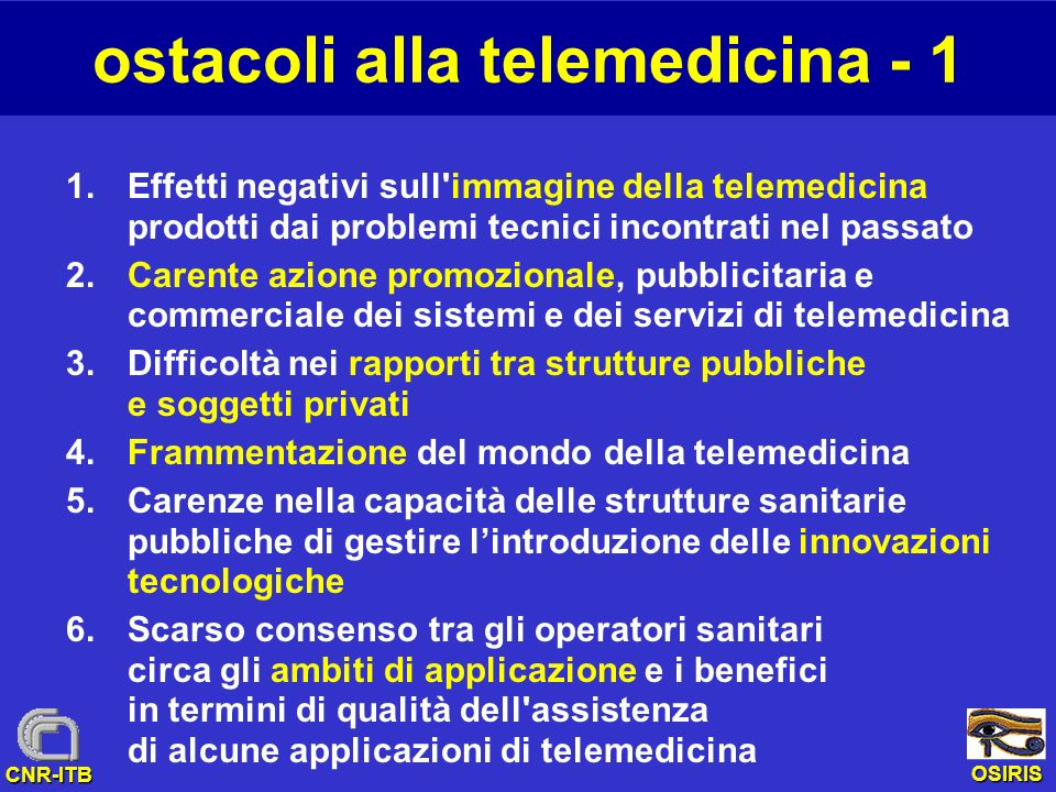 ostacoli alla telemedicina - 1