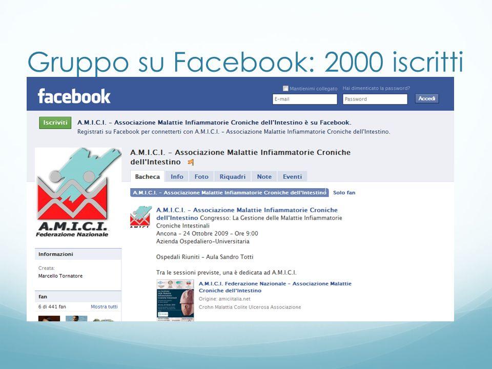 Gruppo su Facebook: 2000 iscritti
