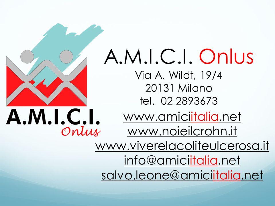 A.M.I.C.I. Onlus www.amiciitalia.net www.noieilcrohn.it
