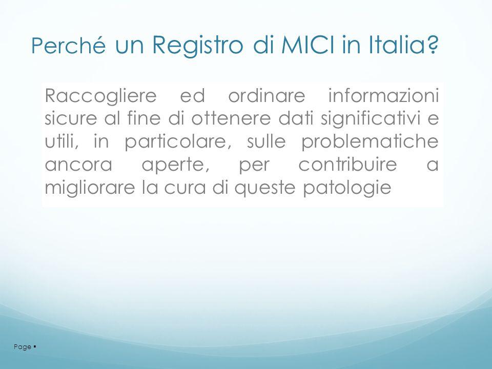 Perché un Registro di MICI in Italia