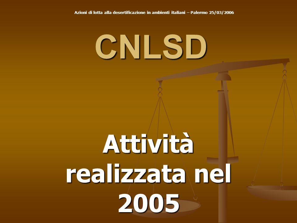Attività realizzata nel 2005