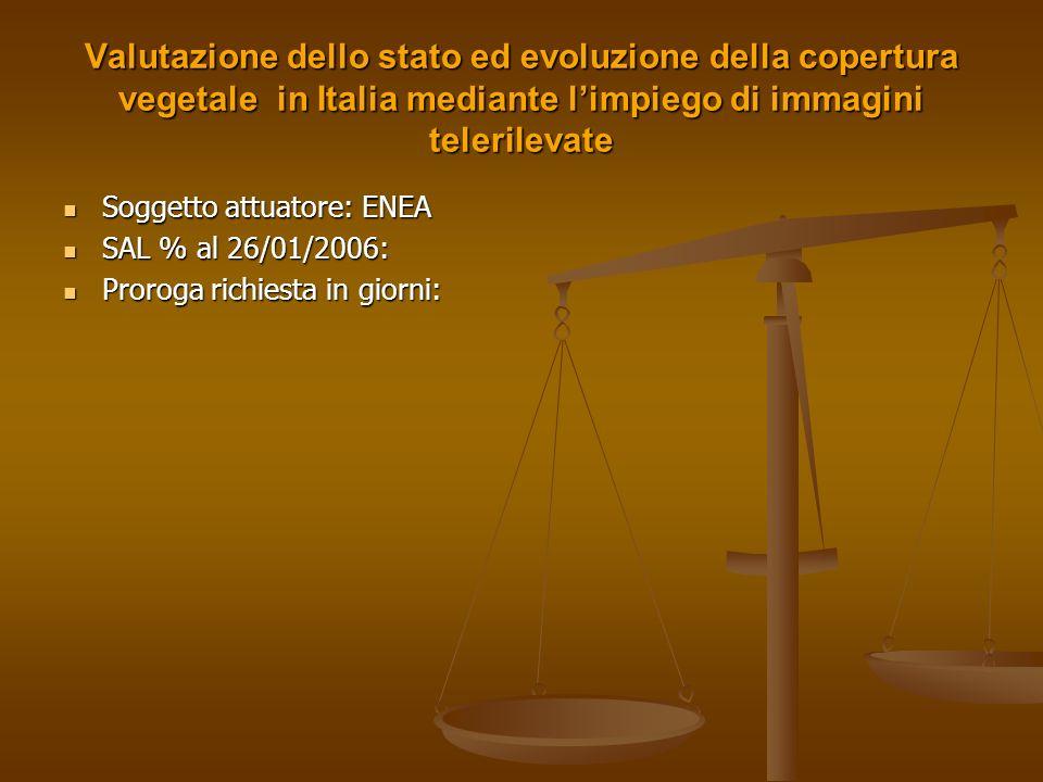 Valutazione dello stato ed evoluzione della copertura vegetale in Italia mediante l'impiego di immagini telerilevate