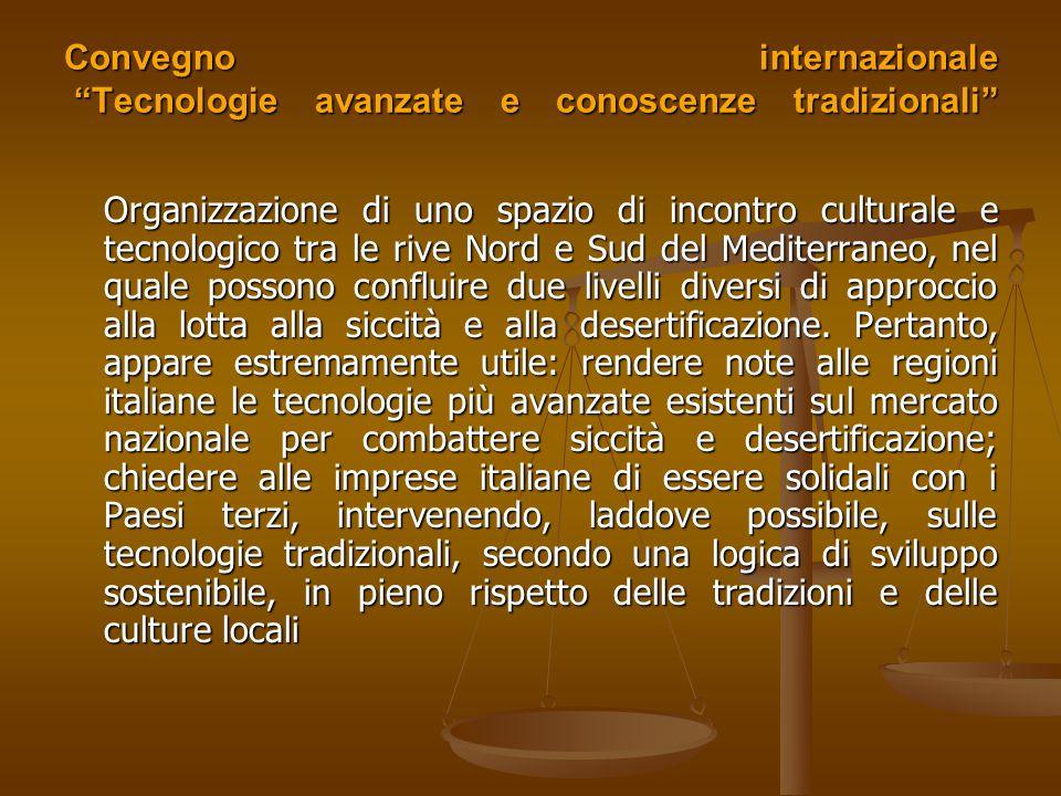 Convegno internazionale Tecnologie avanzate e conoscenze tradizionali